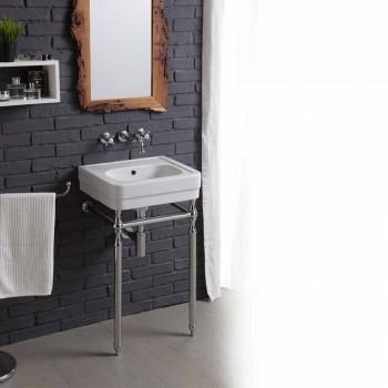 Bad-Set mit Waschbecken und Spiegel in der Struktur der Delphin Kreativität