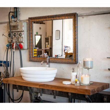 Set von Design-Hängemöbeln für Badezimmer aus gestreiftem Teak Poggio