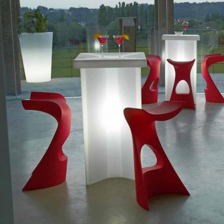 Hoher farbiger Hocker Slide Koncord für den Außen- / Innenbereich, hergestellt in Italien