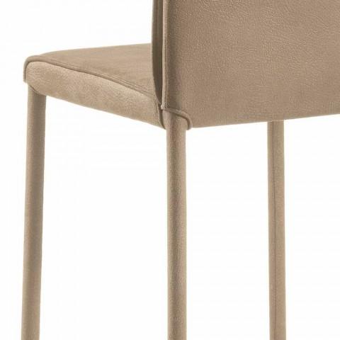 Barhocker Amos in modernem Design, handgefertigt in Italien