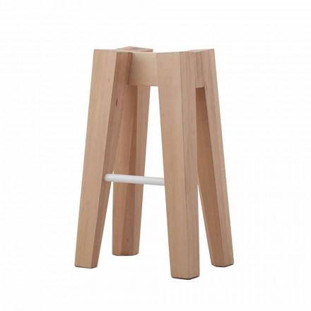 Küchenhocker aus massivem Buchenholz mit hohem oder niedrigem Design - Cirico