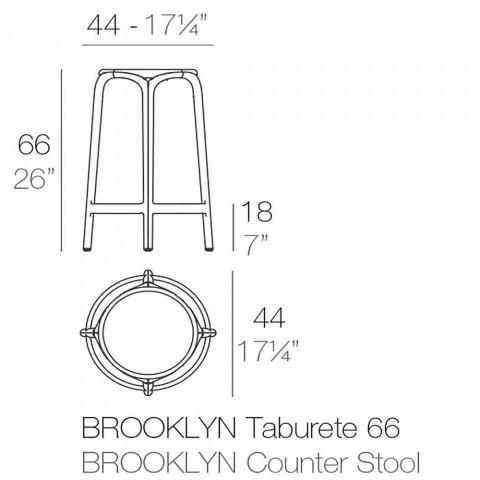 Brooklyn Vondom Außenhocker H 66 cm, aus Polypropylen