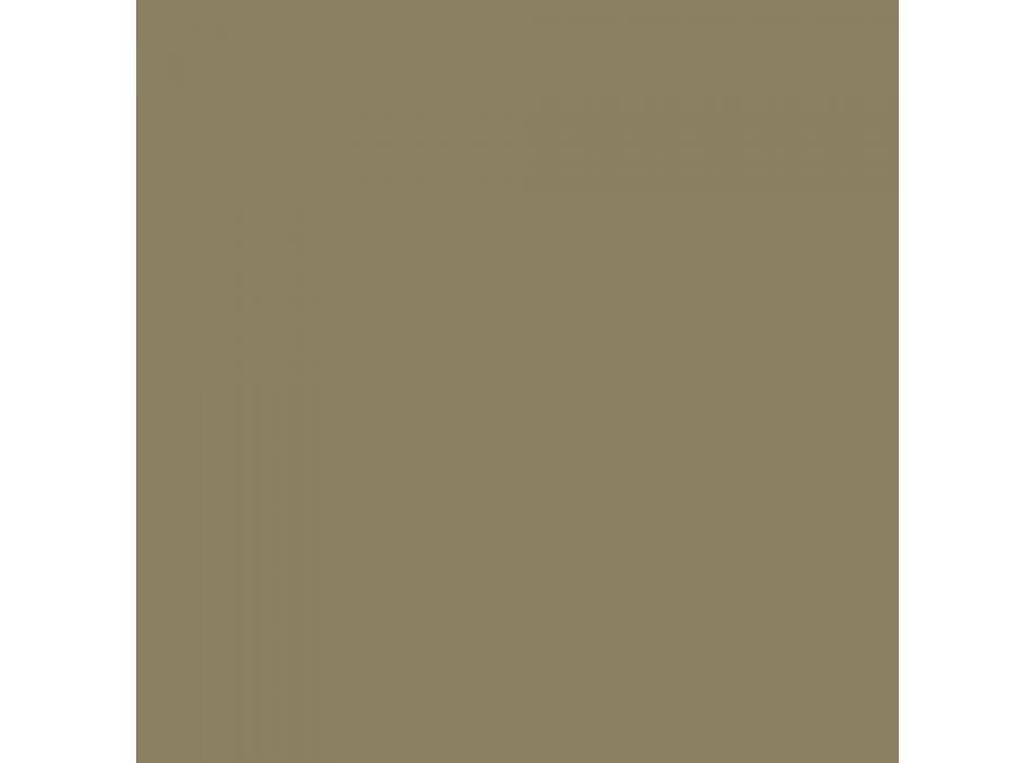 Außenhocker aus lackiertem Metall und Polyurethan Made in Italy - Trosa