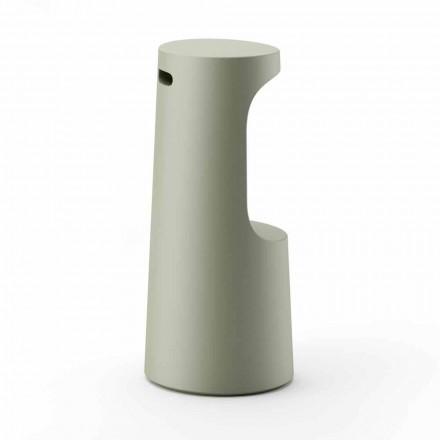 High Design Hocker aus mattem Polyethylen für den Außenbereich Made in Italy - Forlina