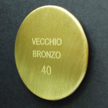 Anti-Kalk-Duschkopf aus Stahl und klassischem Messing Made in Italy - Mingo