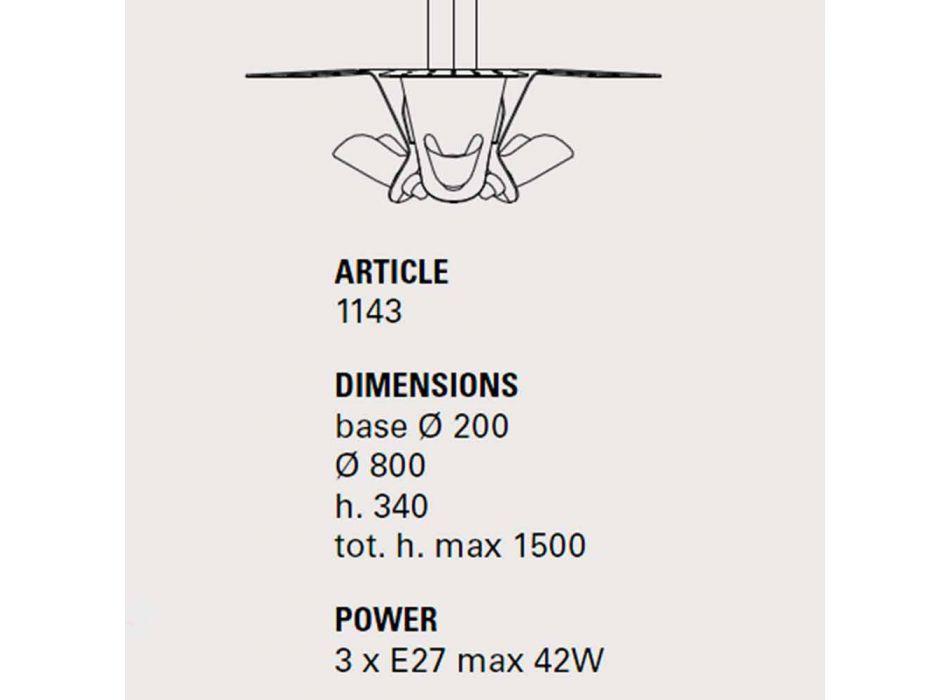 Hängeleuchte mit drei Designerlampen aus Tractor - Toscot Metall