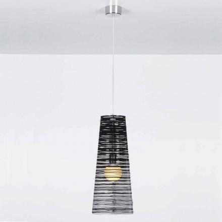 Suspension von transparentem Design, farbige Dekoration, Shana diam. 25 cm
