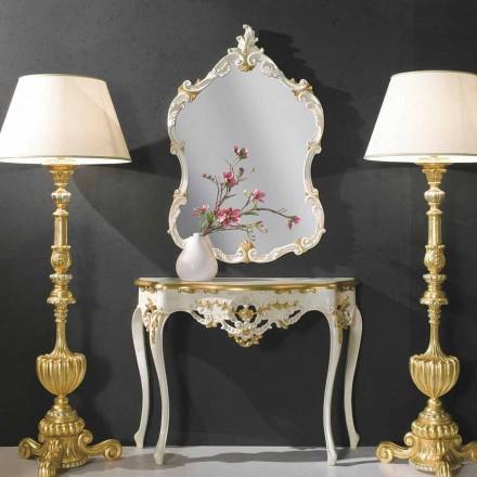 Holzwandspiegel, Konsole, MDF-Platte hergestellt in Italien Gianluca