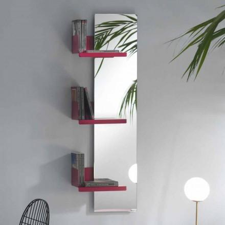 Wandspiegel und 3 Luxus-Design-Regale aus farbigem Metall - Noelle
