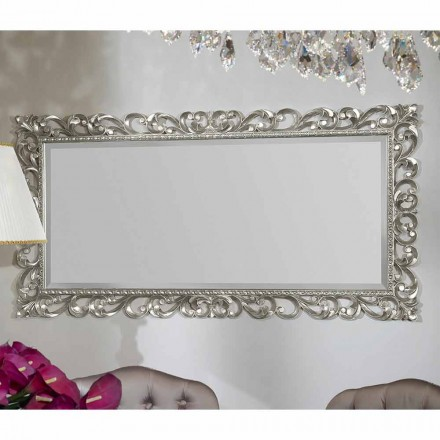 Moderner Wandspiegel handgefertigt aus Holz, hergestellt in Italien, Mattia