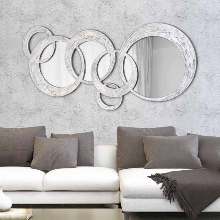 Wandspiegel in modernem Design Circles von Viadurini Decor