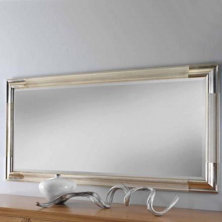 Moderner Wandspiegel aus Holz, komplett in Italien hergestellt, Piera