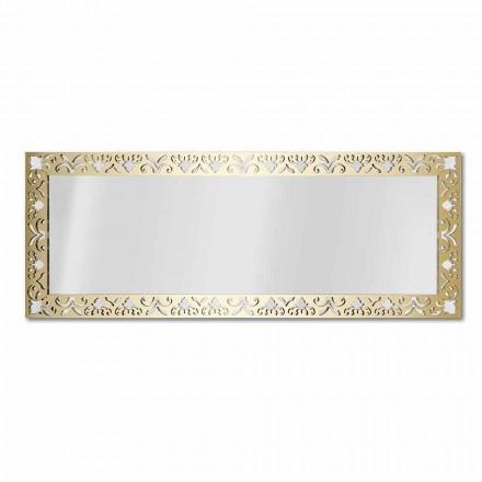 Wandspiegel aus Gold-, Silber- oder Bronzeplexiglas mit Rahmen - Nektar