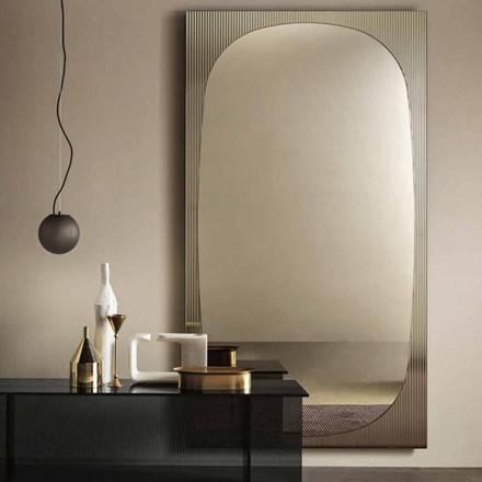 Moderner Wandspiegel mit Bronzespiegel Made in Italy - Bandolero