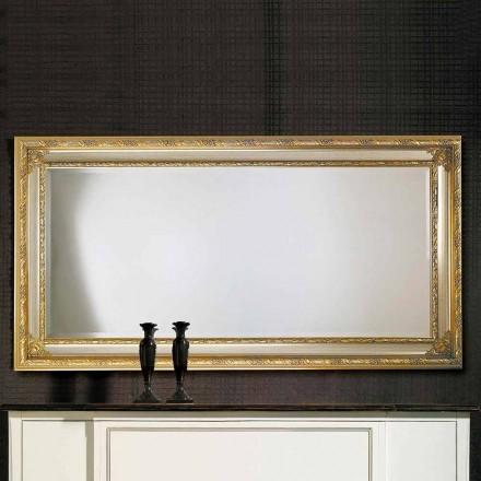 Moderner Wandspiegel aus Ayous-Holz, hergestellt in Italien, Armando