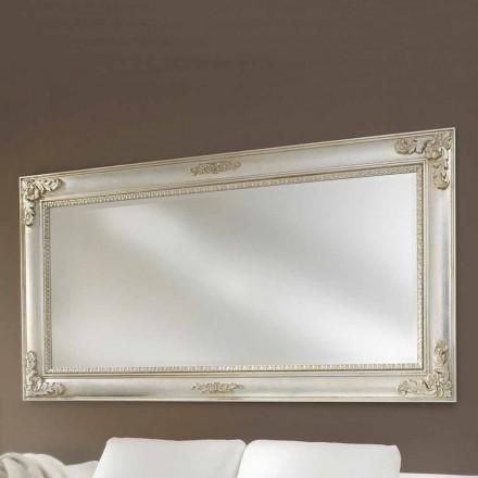 Wandspiegel handgefertigt aus Ayous Holz, hergestellt in Italien, Alessio