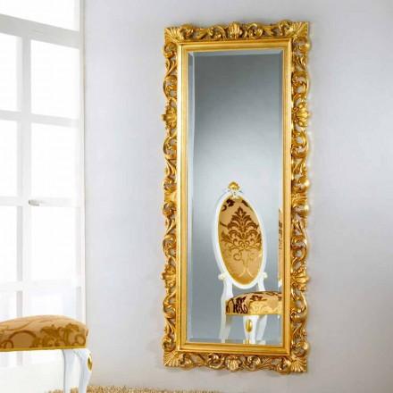 moderner Repro Stand und Wandspiegel gold Mata