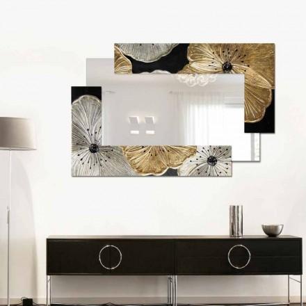 Wandspiegel in modernem Design Petunia Oro Scomposto Klein