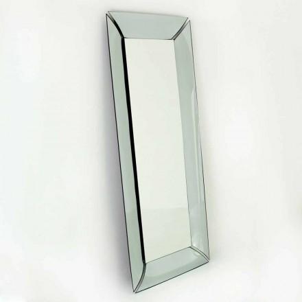 Großer rechteckiger Spiegel aus Made in Italy Design Crystal - Twin