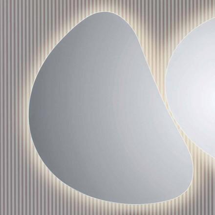 Wand-Badezimmerspiegel mit LED-Pirro-Hintergrundbeleuchtung