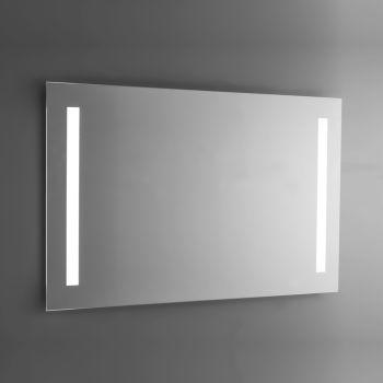 Badezimmerspiegel aus poliertem Draht mit LED-Hintergrundbeleuchtung Made in Italy - Tony