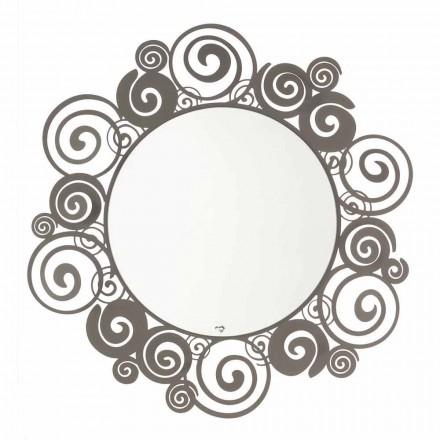 Runder Wandspiegel in modernem Design aus Eisen Made in Italy - Moira