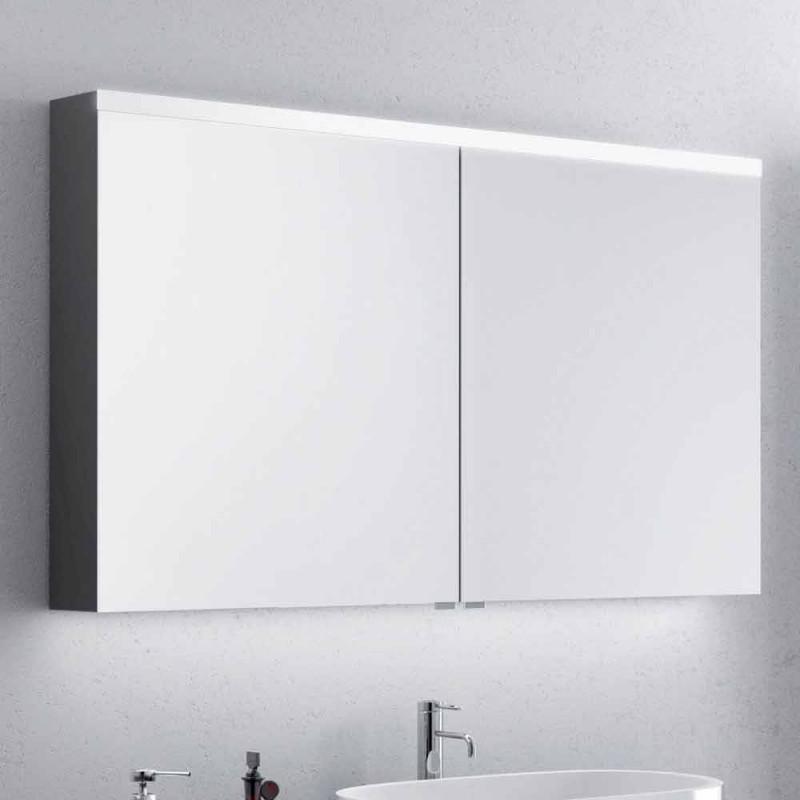 2-türiger Badezimmerspiegel mit LED, modernes Design, Carol