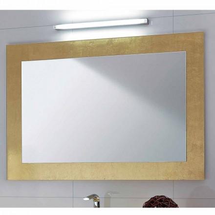 Spiegel in Glas mit Pascal Blattgold verziert