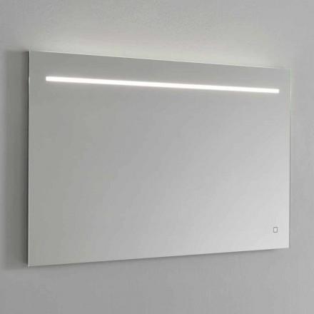Moderner Wandspiegel mit LED-Licht und Stahlrahmen Made in Italy - Yutta
