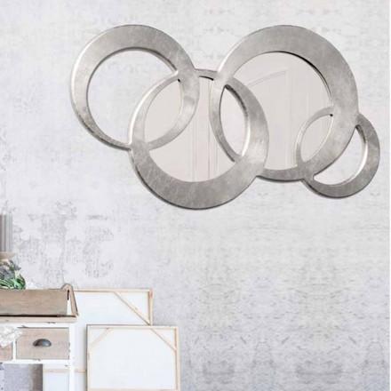 Wandspiegel in modernem Design Ball Silver handdekoriert