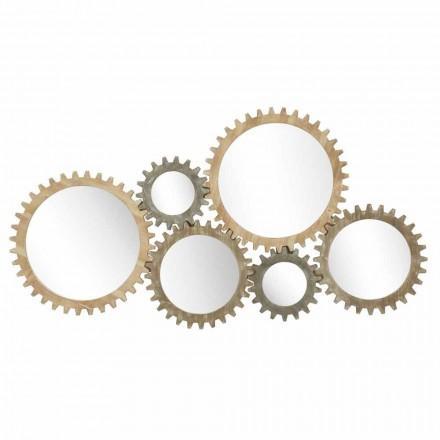 Modernes Design Wandspiegel mit Eisengetriebe - Regiano