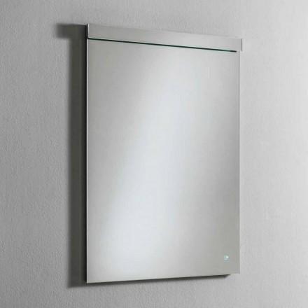 Wandspiegel mit integriertem LED-Licht aus Edelstahl Made in Italy - Tuccio