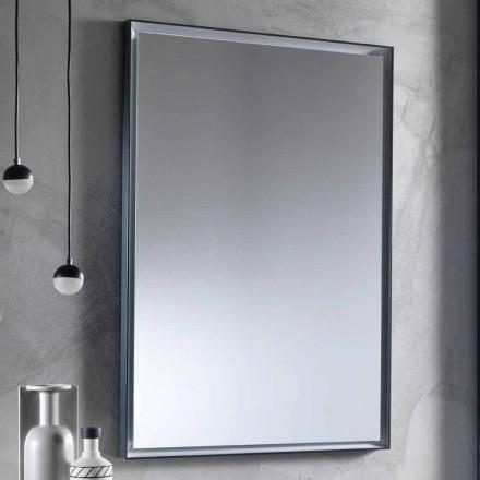 Wandspiegel mit Aluminiumrahmen und LED-Licht Made in Italy - Chik