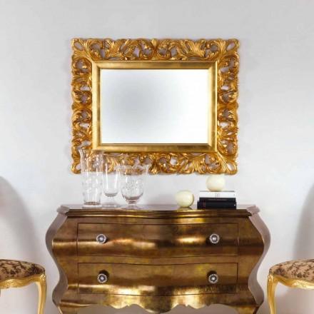 Repro Wandspiegel in Blattgold Gusin
