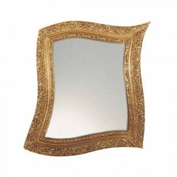 Barock Wandspiegel in Eisen Gold und Silber Made in Italy - Rudi