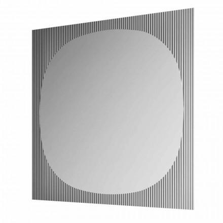 Moderner quadratischer Wandspiegel in rauchiger Farbe Made in Italy - Bandolero