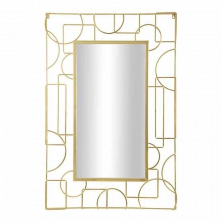 Rechteckiger moderner Design-Eisenwandspiegel - Plinius