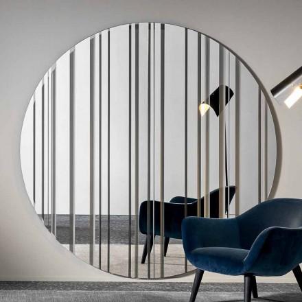 Runder Design Wandspiegel Durchmesser 200 cm Made in Italy - Coriandolo