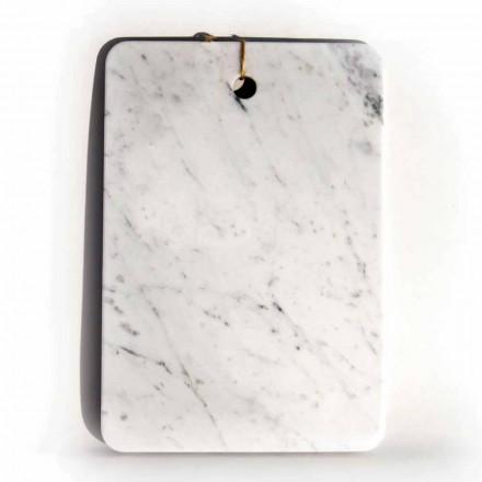 Schneidebrett in Carrarra White Marble von Made in Italy Design - Masha