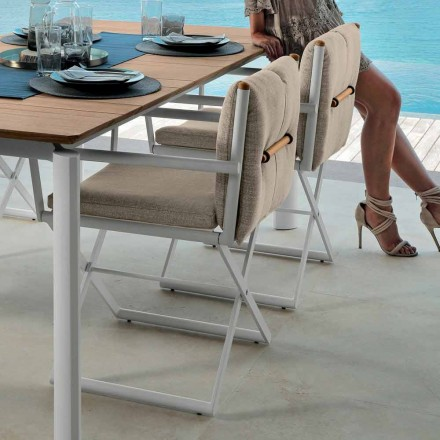 Talenti Domino Regiestuhl für Outdoor-Design made in Italy