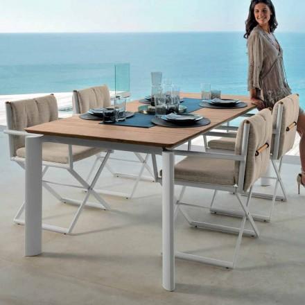 Talenti Domino Gartentisch Ausziehbarer 160/215cm made in Italy