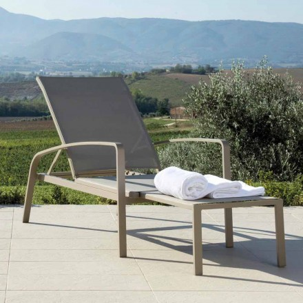 Talenti Lady Garten-Sonnenliege verstellbar in Design made in Italy