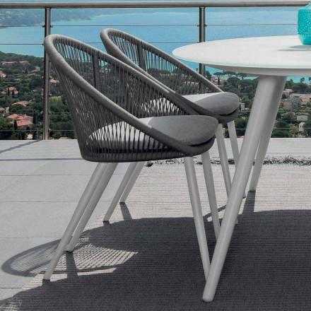 Talenti Rope Gartenstuhl aus lackiertem Aluminium made in Italy