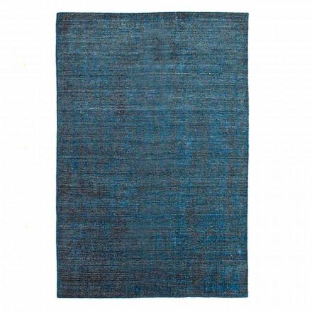 Wohnzimmerteppich Hergestellt auf Handwebstuhl aus Viskose Wolle und Baumwolle - Cristel
