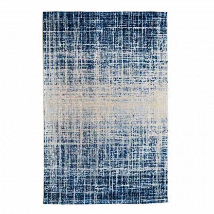 Design Rechteckiger Wohnzimmerteppich im Polyester- und Baumwollstil