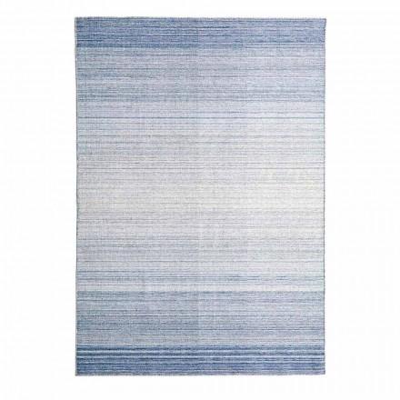 Rechteckiger Wohnzimmerteppich Handgewebt aus Polyester und Baumwolle - Zonte