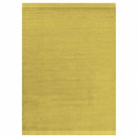 Modernes Design farbiger und großer Teppich aus Seide und Wolle mit Bandmischung