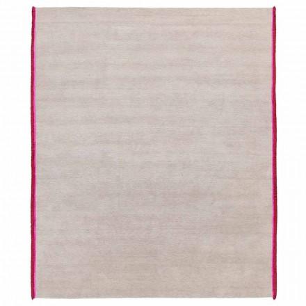 Moderner Designteppich aus Viskose und Baumwolle mit farbigen Fransen aus Seide - Garbino
