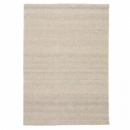 Moderner handgewebter Wohnzimmerteppich aus Polyester und Baumwolle - Soledad