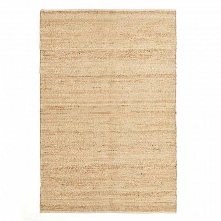 Rechteckiger Teppich aus modernem Design aus Wolle, Jute und Baumwolle für Wohnzimmer - Remino